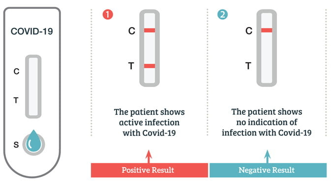 Covid-19 Antigen test results diagram